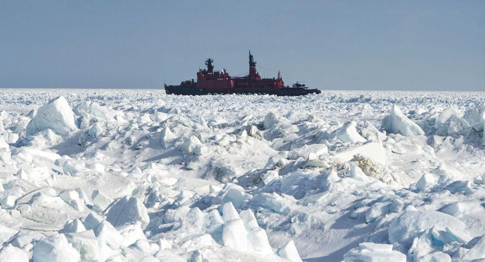 Lodołamacz atomowy Jamał w Arktyce