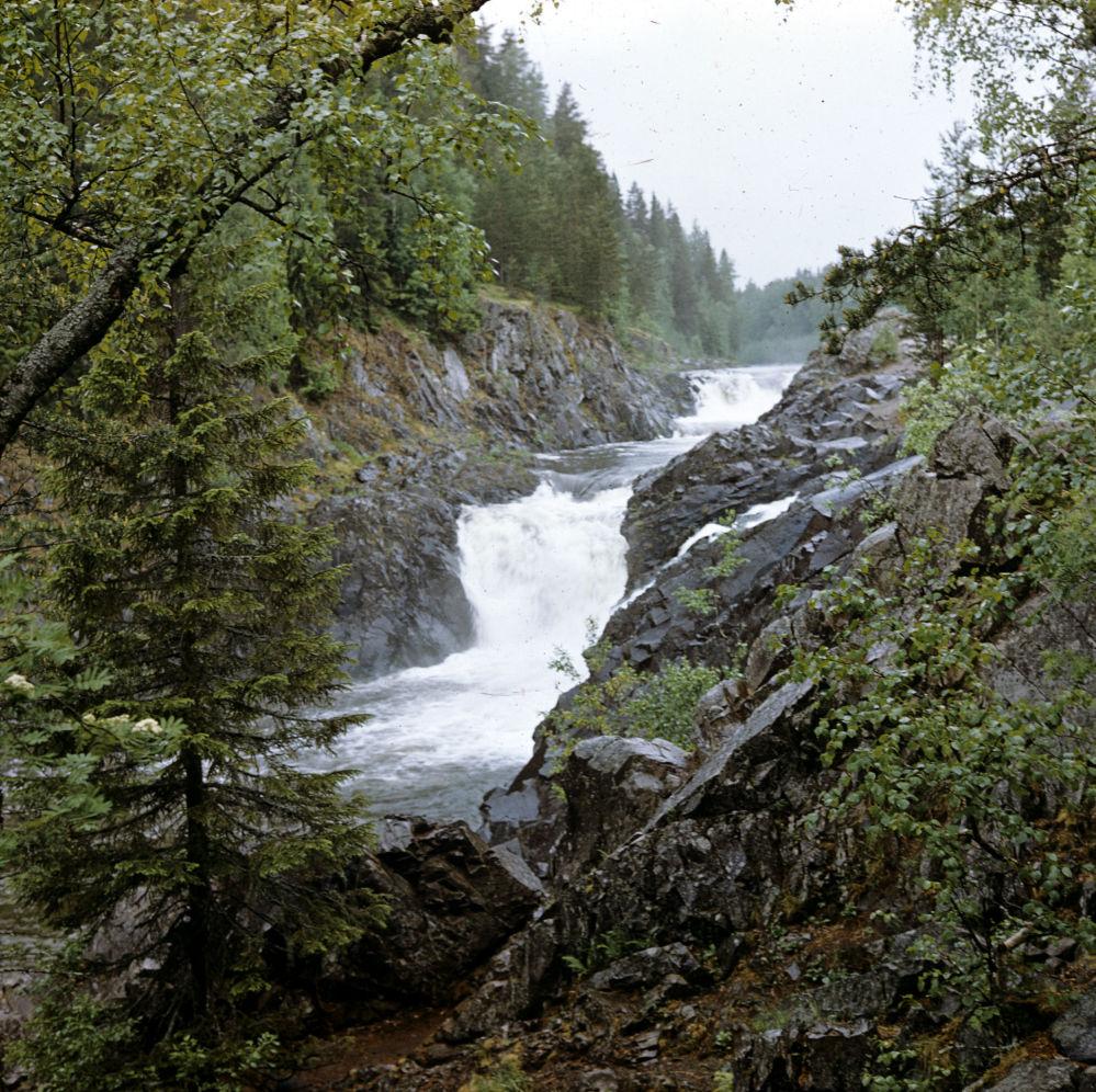 Wodospad Kiwacz. Republika Karelii