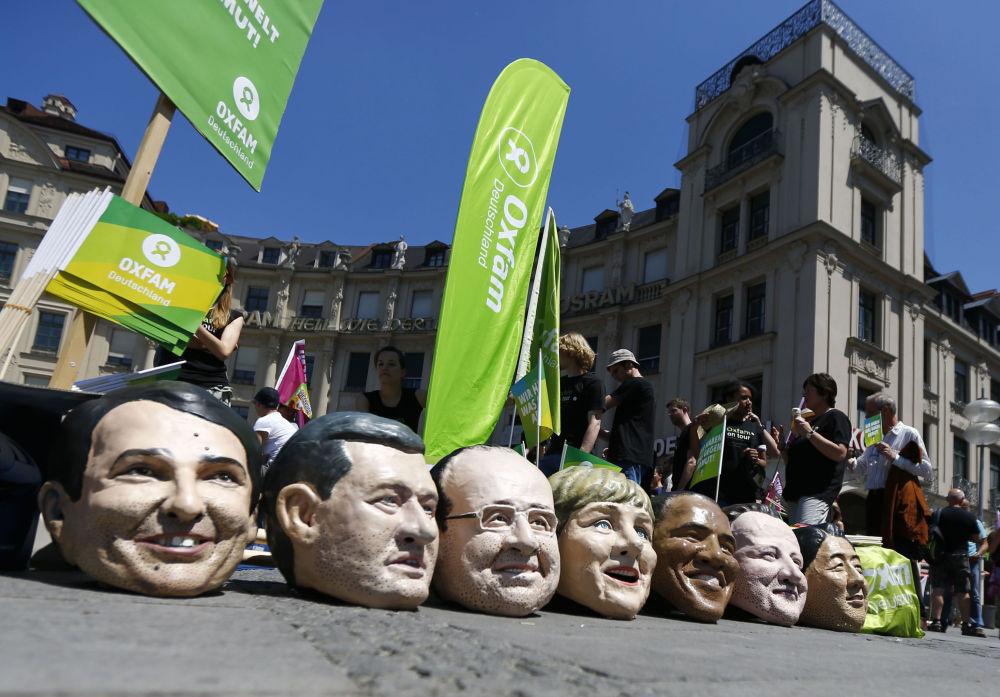 Karykatury przywódców państw tworzących G7