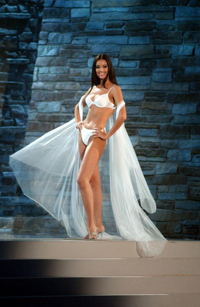 Zwyciężczyni konkursu Miss Universe 2002 Oksana Fiodorowa z Rosji