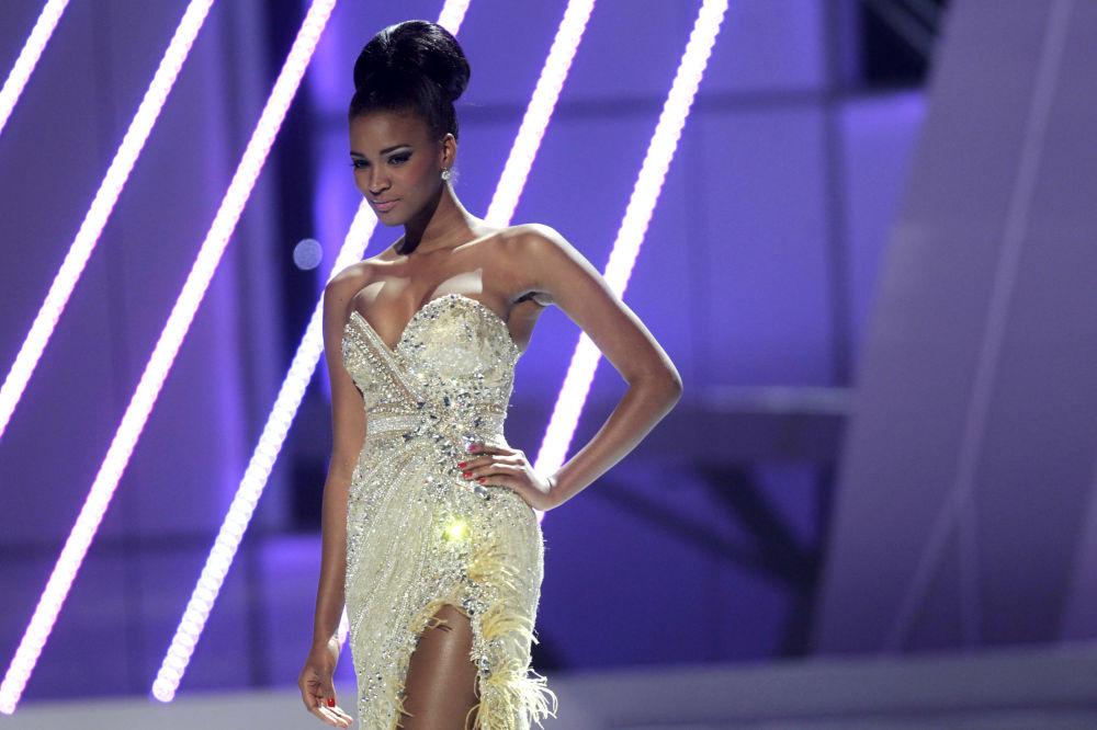 Zwyciężczyni konkursu Miss Universe 2011 Leila Lopes z Angoli