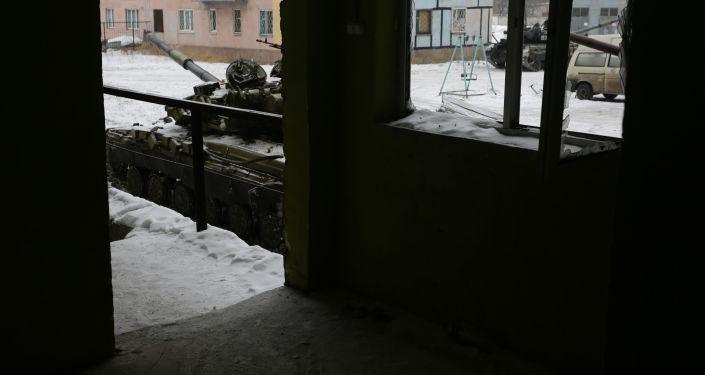 Ukraińskie czołgi w Awdijiwce