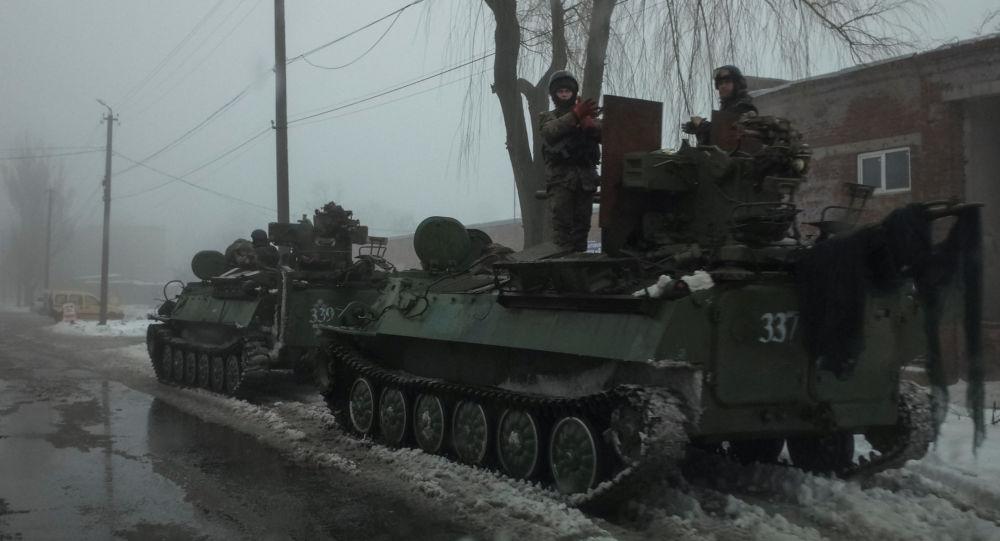 Ukraińscy żołnierze w mieście Awdijiwka