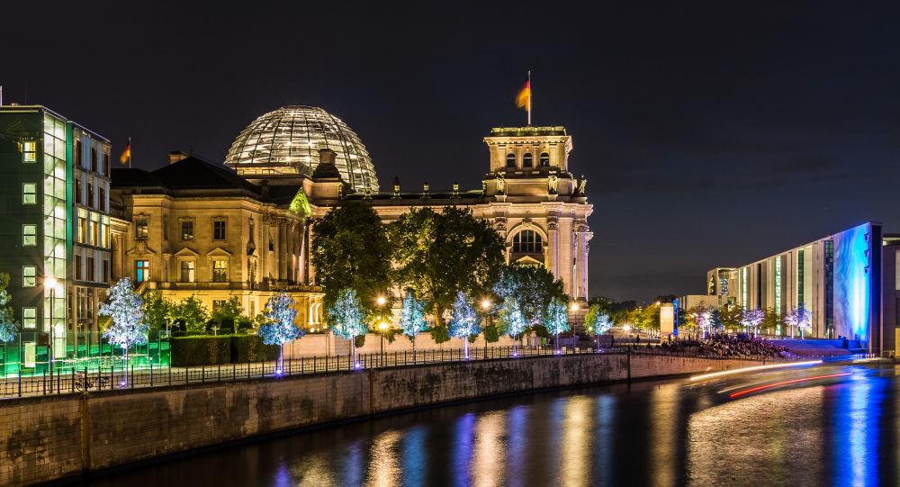 Widok na Reichstag w Berlinie