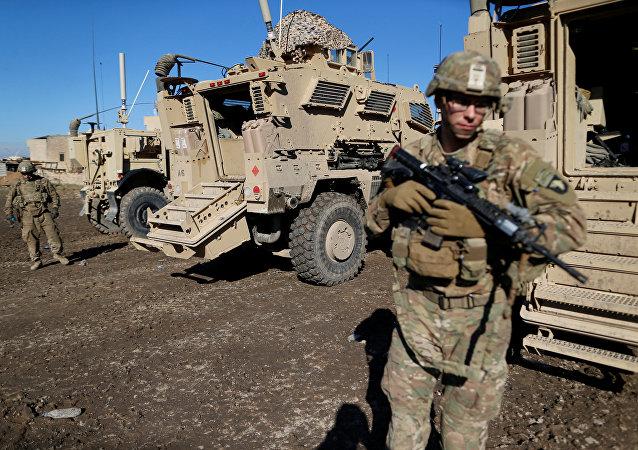 Amerykańscy żołnierze w Mosulu, Irak, 27 grudnia 2016