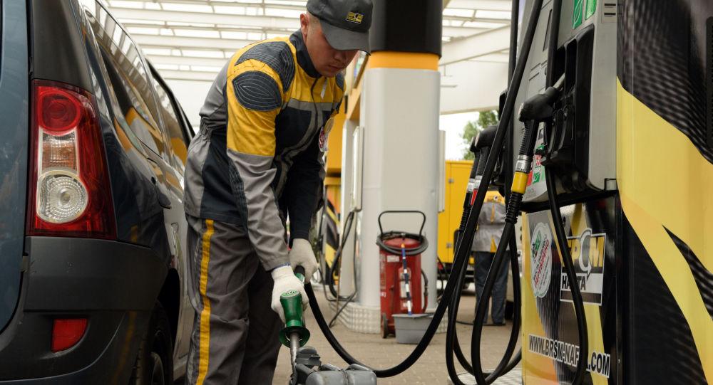 Stacja benzynowa na Ukrainie