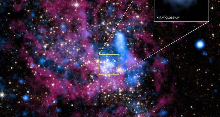Sagittarius A to czarna dziura w centrum galaktyki Droga Mleczna