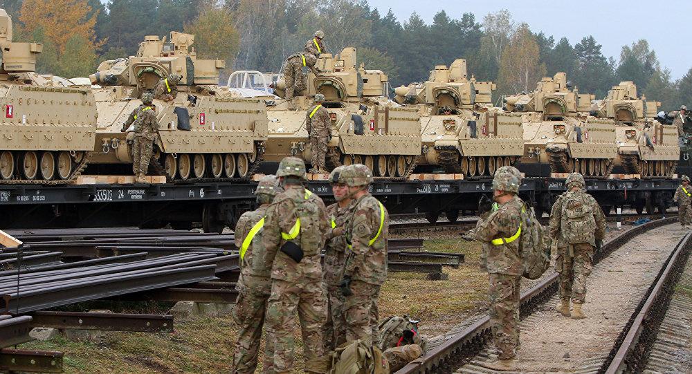 Amerykańscy żołnierze w bazie Rukla, Litwa