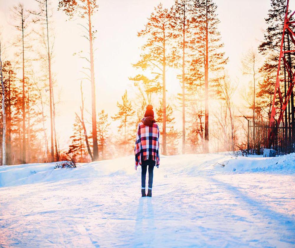 Przyroda wokół jeziora Bajkał zimą