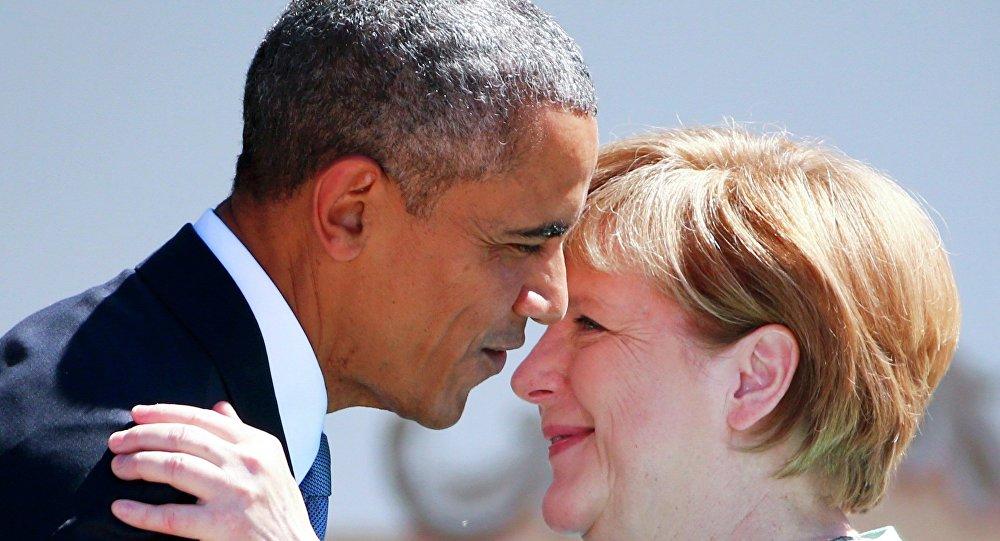 Kanclerz Niemiec Angela Merkel i prezydent USA Barack Obama na szczycie G7 w Bawarii