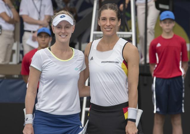Tenisistki Andrea Petkovic i Alison Riske
