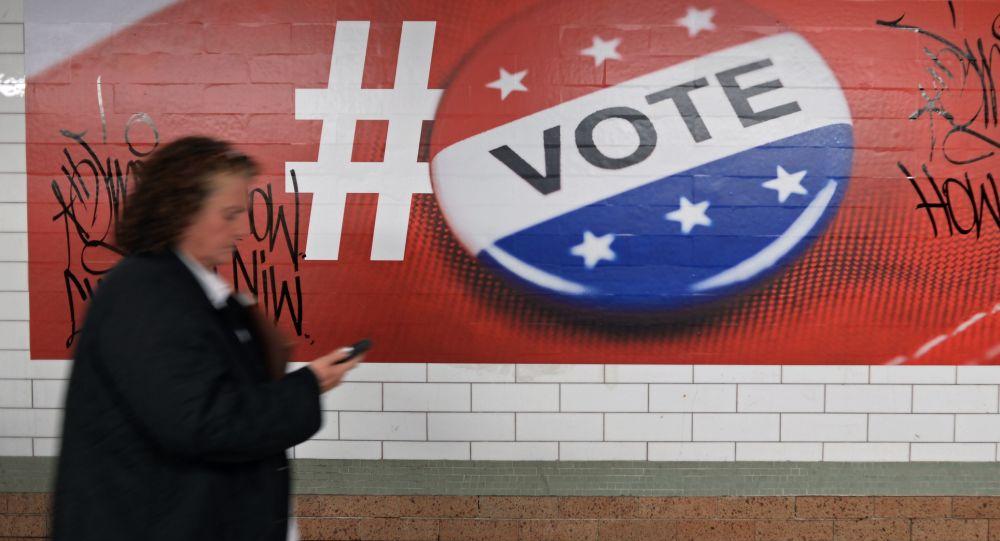 Plakat poświęcony głosowaniu w wyborach prezydenckich w USA, Nowy Jork