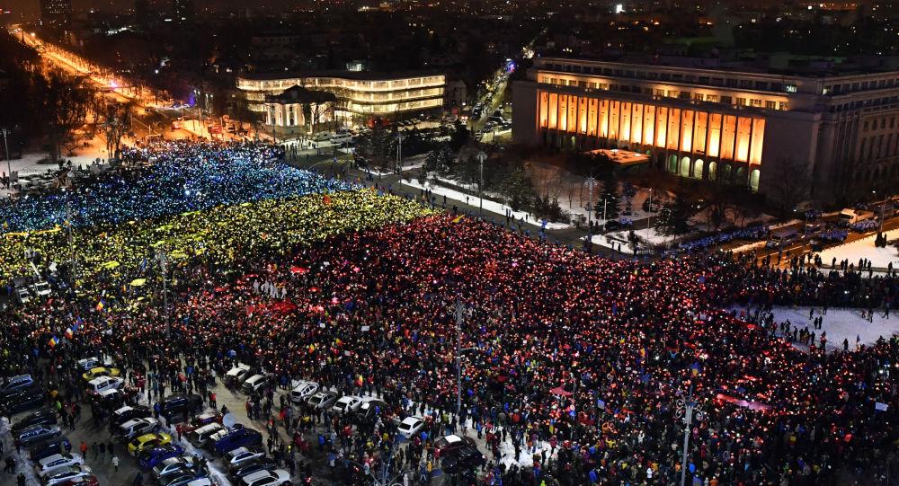 Akcja antyrządowa w Bukareszcie, Rumunia