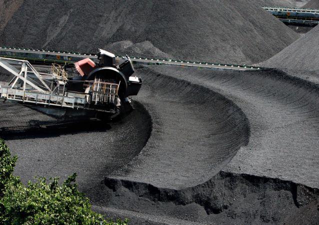 Hałda węgla w Kraju Nadmorskim