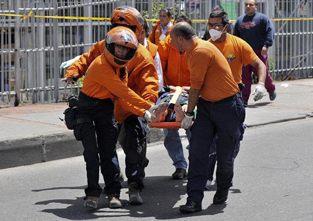 Operacja ratunkowa po wybuchu w Bogocie