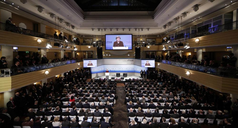 Konferencja w Monachium. Zdjęcie archiwalne