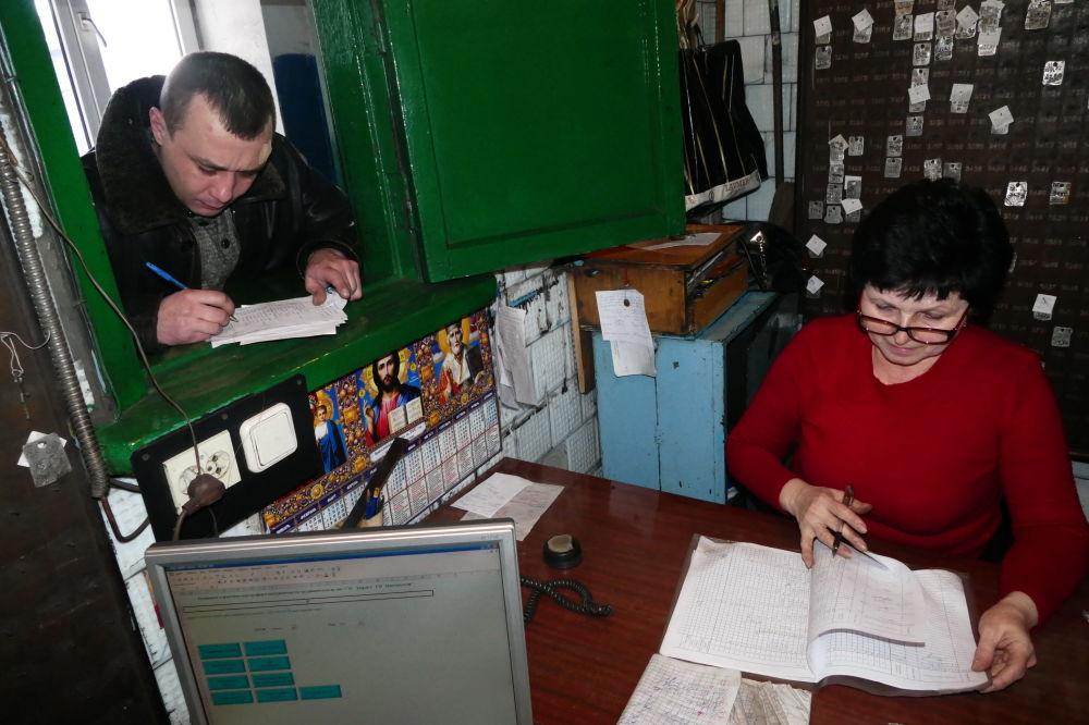 Pracownicy państwowego zakładu Makiejewugol w obwodzie donieckim.