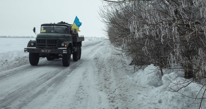 Pojazd wojskowy Ukraińskich Sił Zbrojnych