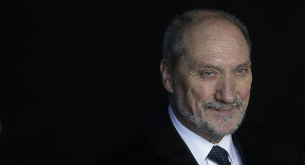 Były minister obrony Polski Antoni Macierewicz