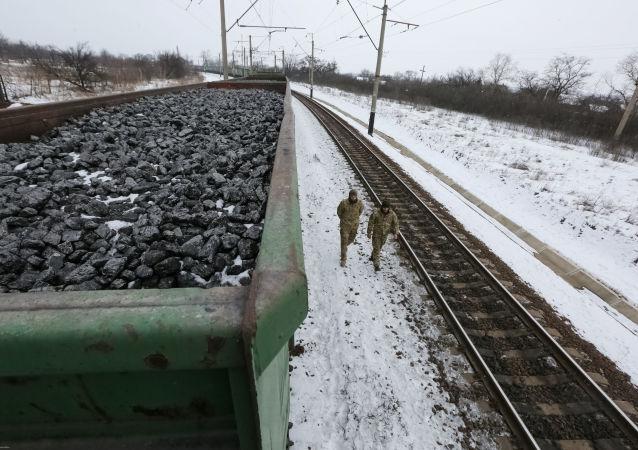 Uczestnicy blokady w Doniecku