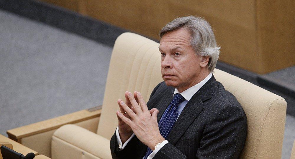 Przewodniczący Komisji ds. Zagranicznych Dumy Państwowej Rosji Aleksiej Puszkow