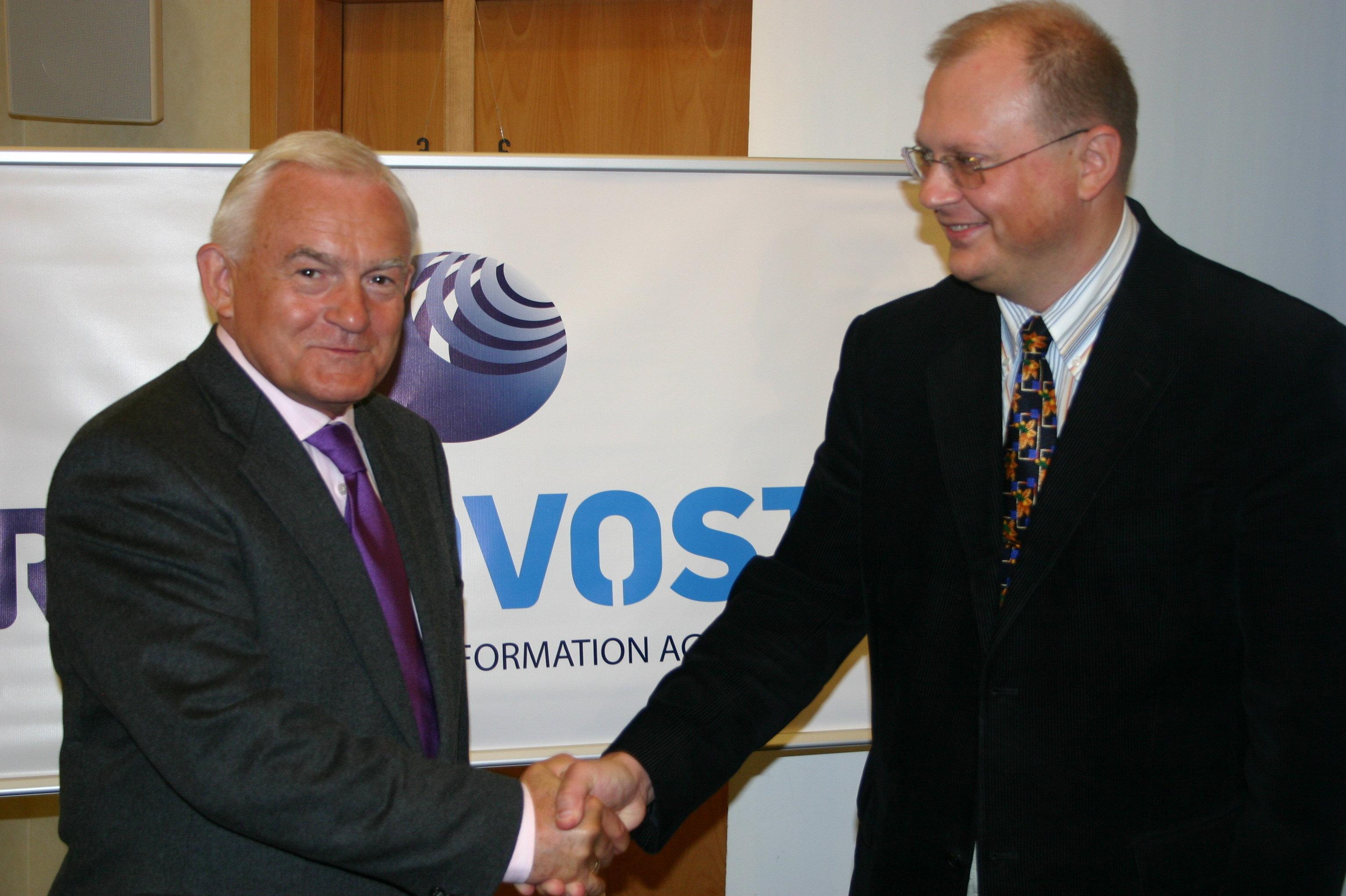 Leszek Miller i Leonid Swiridow. Warszawa