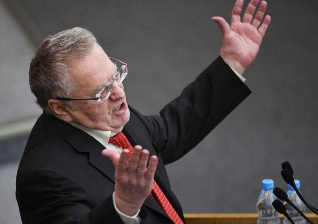 Lider LDPR Władimir Żyrynowski