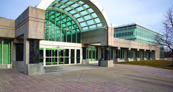Wejście do budynku siedziby CIA