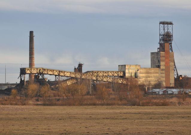 """Budynek kopalni """"Stepnaja"""" w obwodzie lwowskim"""