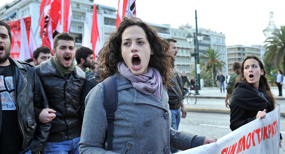Demostracja w Atenach