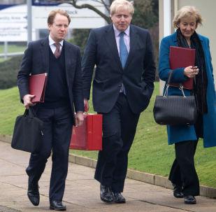 Skarbnik generalny i minister gabinetu Benedict Gummer, minister spraw zagranicznych Wielkiej Brytanii Boris Johnson i minister środowiska, żywności i rolnictwa Andrea Ledsom