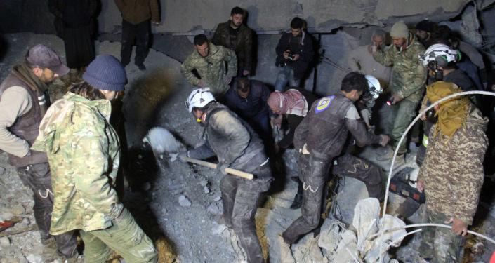 Nalot na meczet w wiosce Al-Jineh w prowincji Aleppo