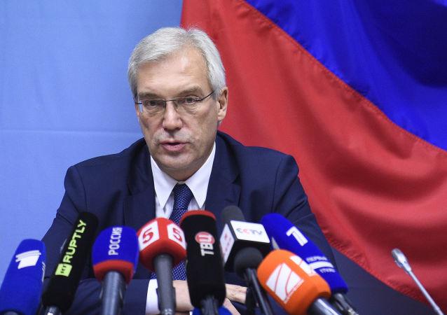 Ambasador Rosji przy NATO Aleksander Gruszko