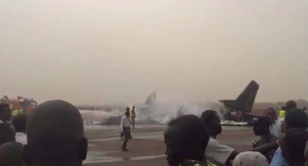 Katastrofa samolotu na lotnisku w Wau