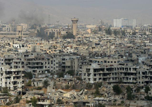 Sytuacja w Damaszku rejonie Dżobar