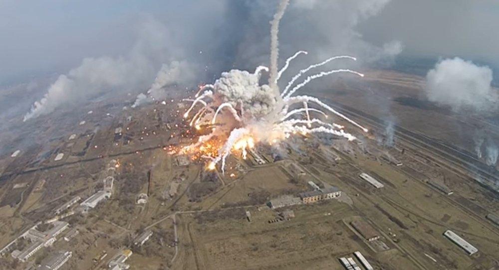 Niekontrolowane wybuchy na Ukrainie