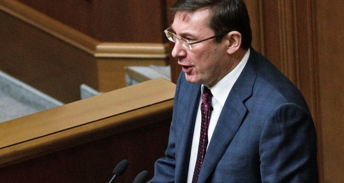 """Przewodniczący frakcji """"Blok Petra Poroszenko"""" Jurij Łucenko"""