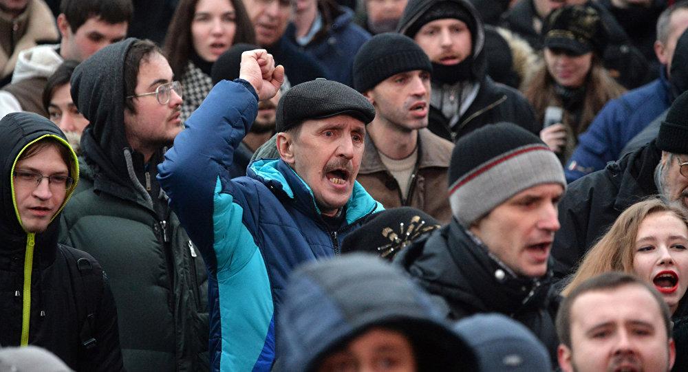 MSW Białorusi potwierdziło informacje o zatrzymaniach uczestników nielegalnej akcji opozycji w centrum Mińska