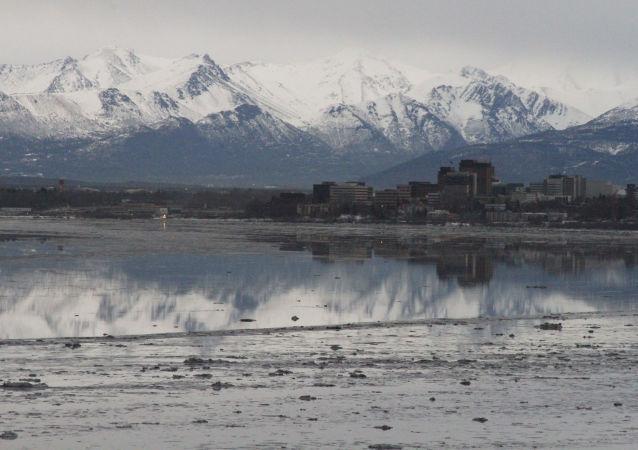 Zatoka Cooka u wybrzeży Alaski