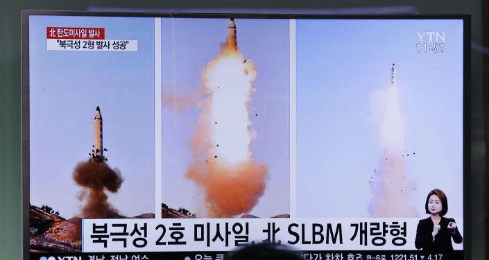 Reportaż o probie północnokoreańskiej rakiety balistycznej