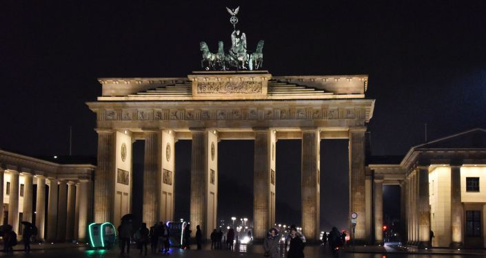 Brama Brandenburska w centrum Berlina, Niemcy