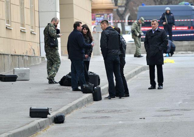 Na miejscu wybuchu w pobliżu szkoły w Rostowie nad Donem