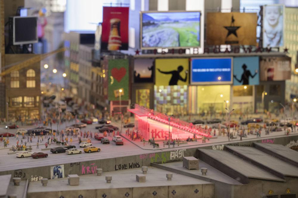 Makieta placu Times Square w Nowym Jorku.