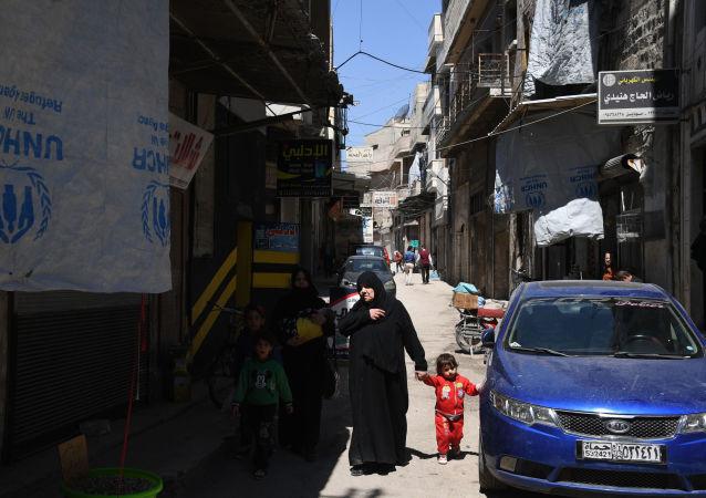 Jedna z ulic syryjskiego miasta Hama