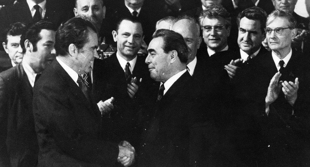 Leonid Breżniew i Richard Nixon