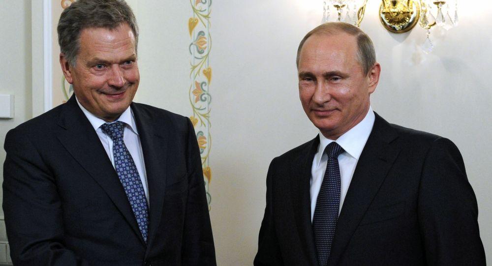 Prezydent Finlandii Sauli Niinistö i prezydent Rosji Władimir Putin