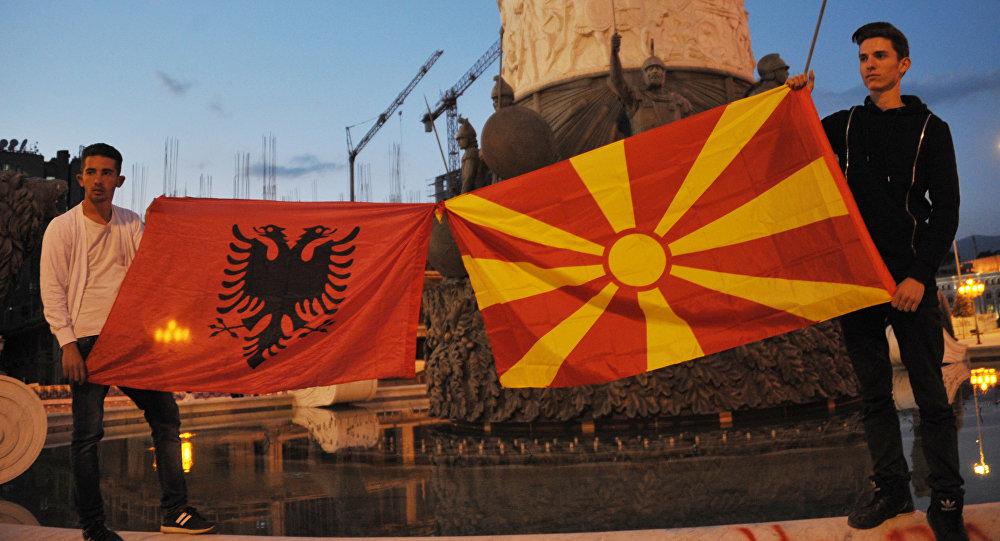Wiec opozycji w stolicy Macedonii
