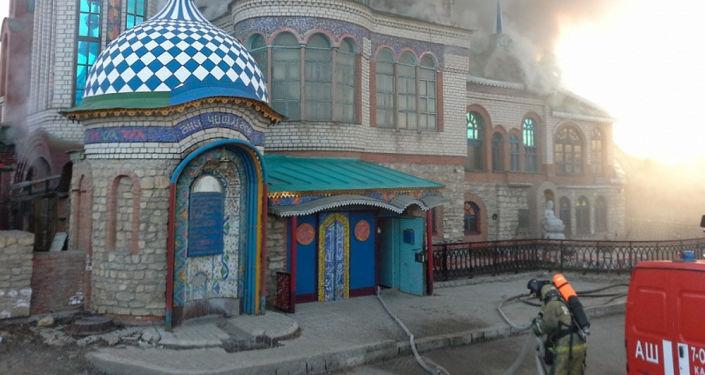 Pożar w Świątyni Wszystkich Religii w Kazaniu