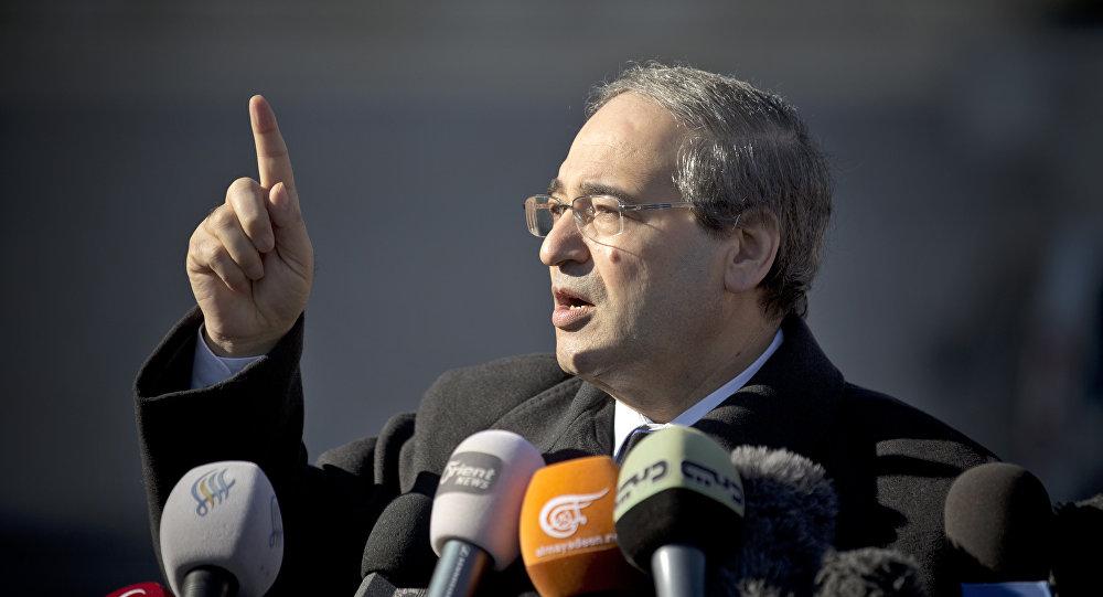 Minister spraw zagranicznych Syrii Faisal Mekdad