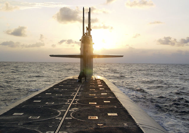 Amerykański okręt podwodny typu Ohio przeznaczony do przenoszenia pocisków balistycznych